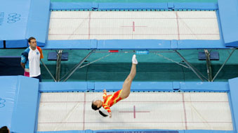 trampolining at the olympics